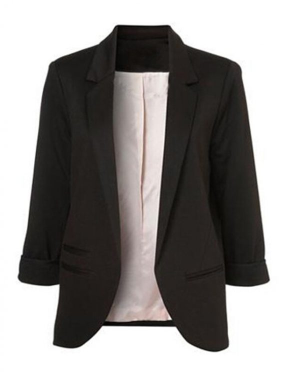 Women Formal Jackets Notched Blazer