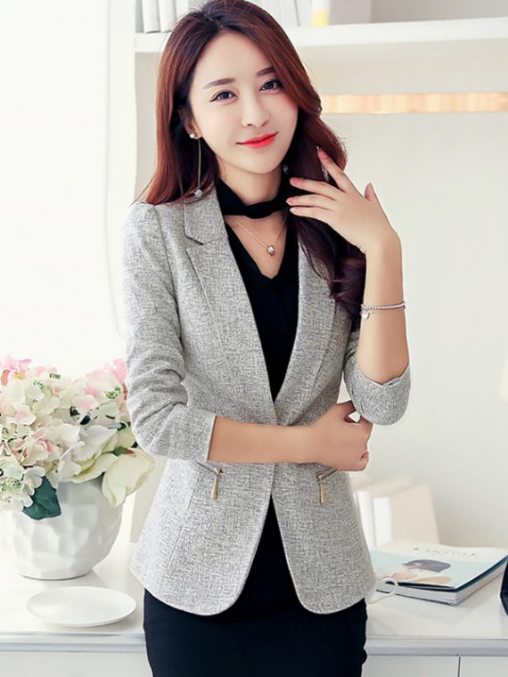 Women Jacket Blazer Slim Long Sleeve Suit