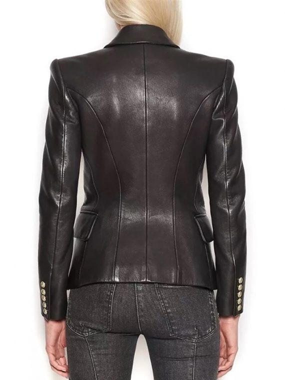 Women Leather Jacket Blazer