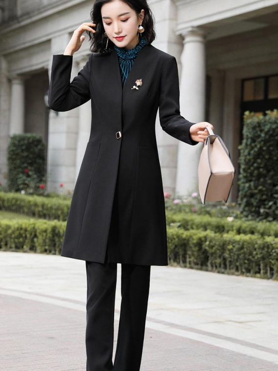 Women Pant Suit Blazer Jacket