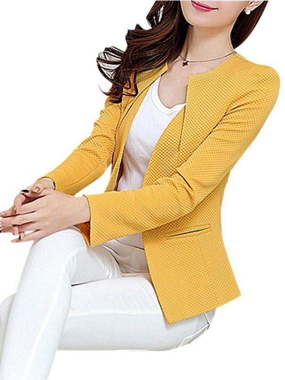 Women Slim Blazer Coat