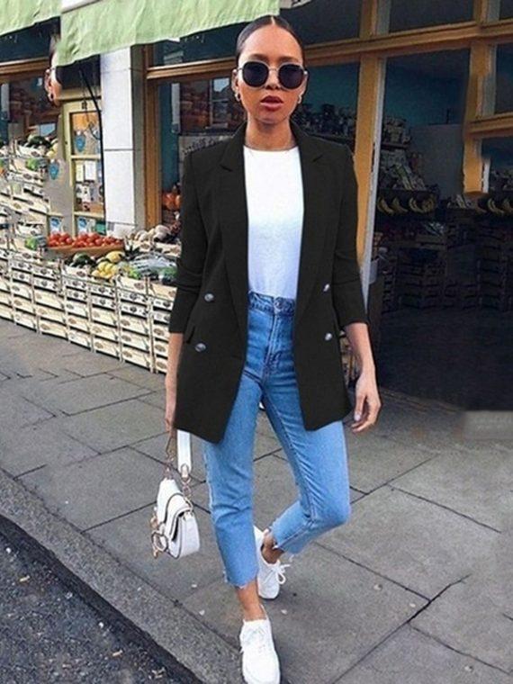 Women Suit Business Notched Blazer