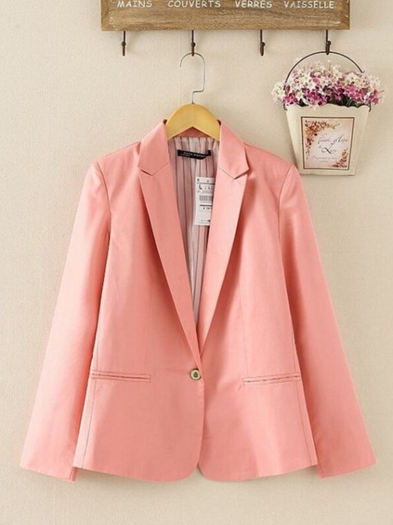 Women Suit Long Sleeves Coat