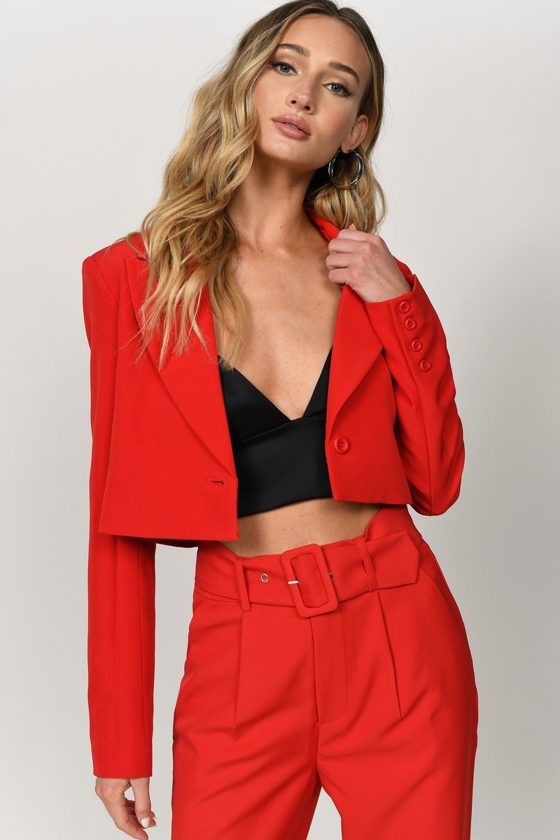 Cowl Neck Sweater or Cropped Blazer?