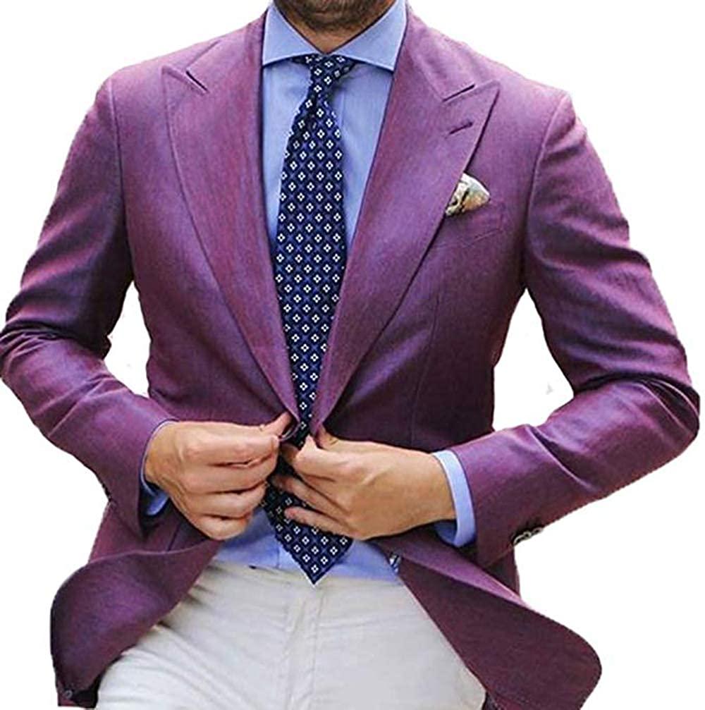 Purple Blazer Men's Fashion Jewelry