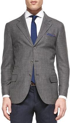 Gray Blazer, Black Sweater Dress Pants