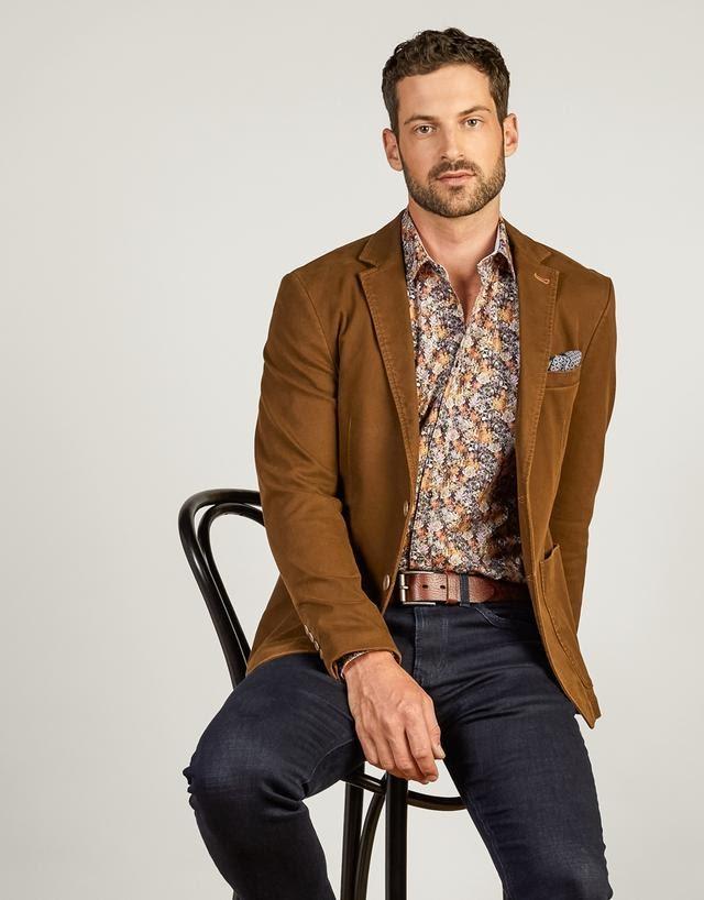 Brown Blazer, Patent Leather, and Tweed Slacks Are Stylist Fabrics